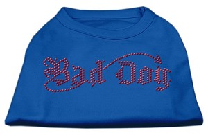 Bad Dog Rhinestone Shirts Blue XS (8)